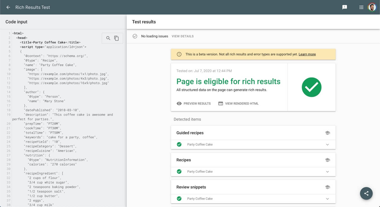 Structured data tool