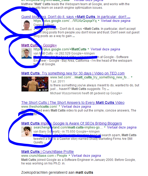 Authorship Rich Snippets