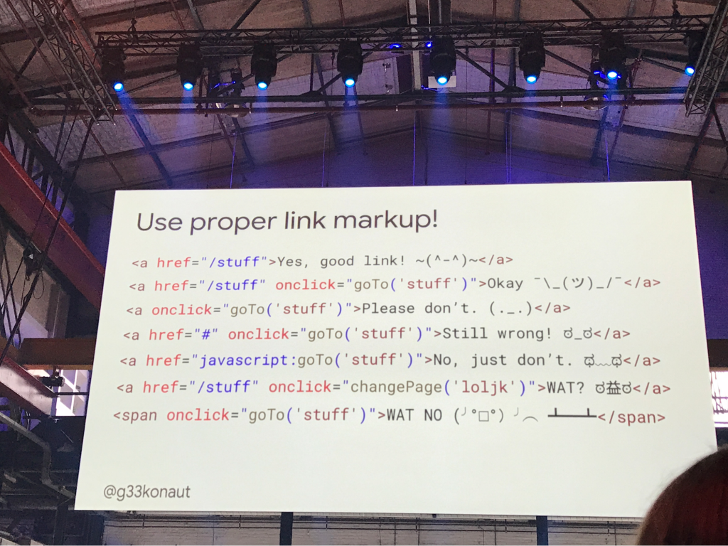 The only way is link markup